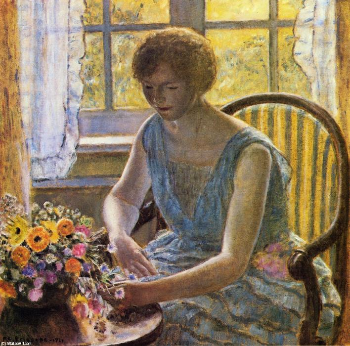 famous painting Mahdah of Frederick Carl Frieseke