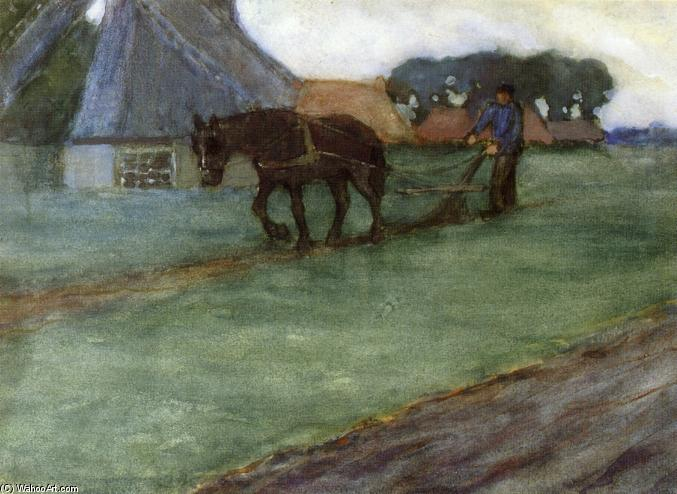 famous painting Man Plowing of Frederick Carl Frieseke