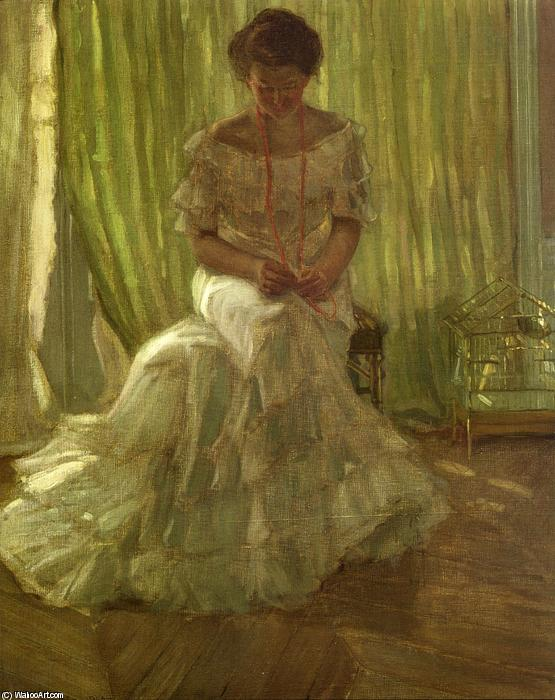 famous painting Medora Clark At The Clark Apartment, Paris of Frederick Carl Frieseke