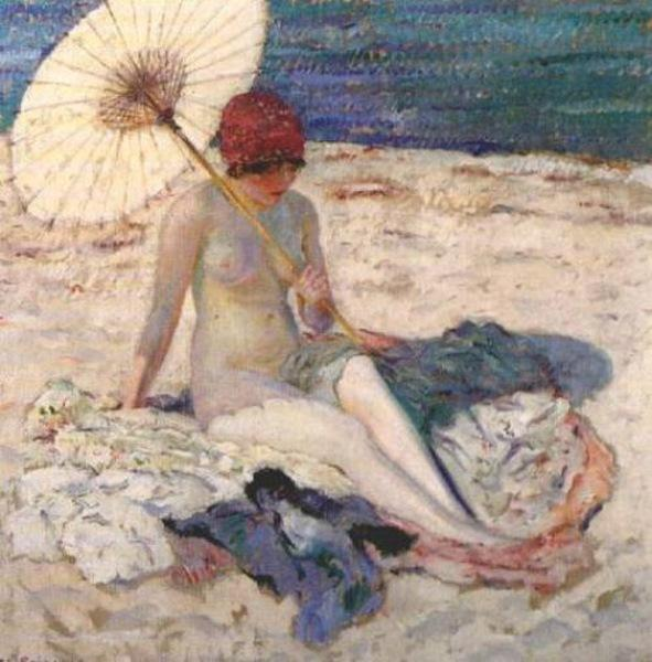 famous painting Nude on the Beach of Frederick Carl Frieseke