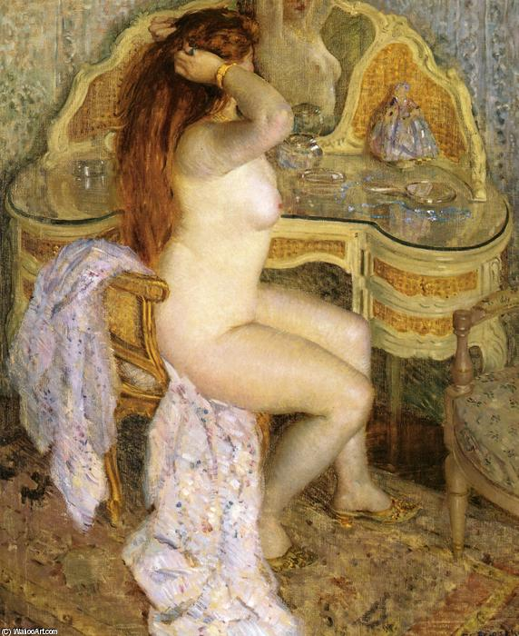 famous painting Nude Seated At Her Dressing Table of Frederick Carl Frieseke