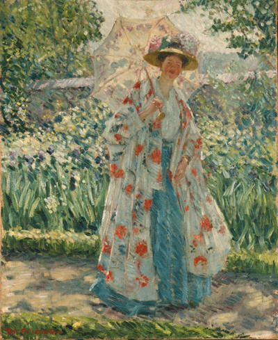 famous painting Promenade in the Garden of Frederick Carl Frieseke