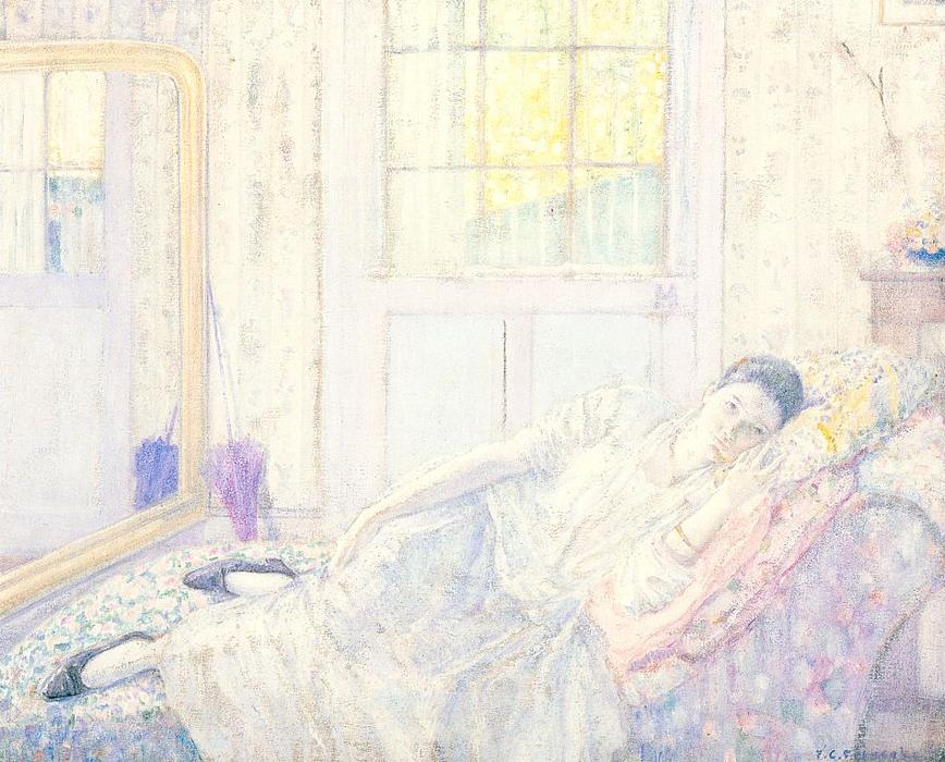 famous painting Rest of Frederick Carl Frieseke
