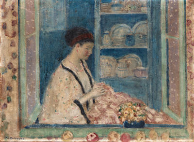 famous painting Sadie in the Window of Frederick Carl Frieseke