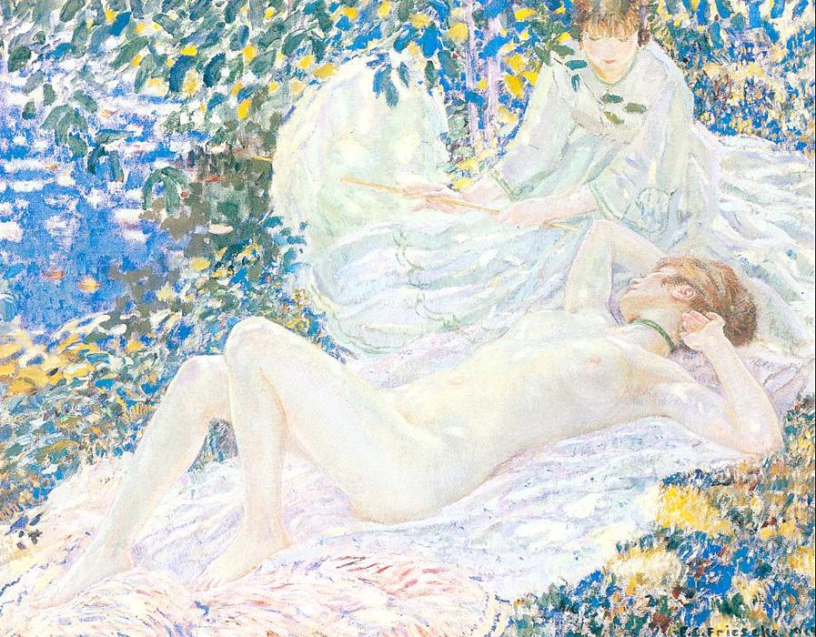 famous painting Summer of Frederick Carl Frieseke