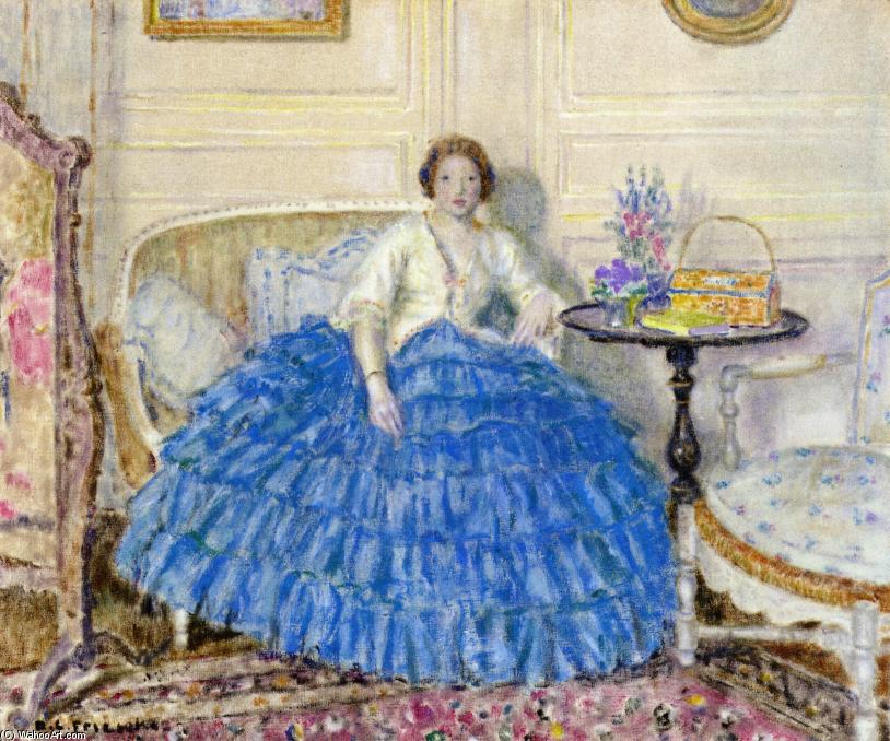 famous painting The Crinoline of Frederick Carl Frieseke