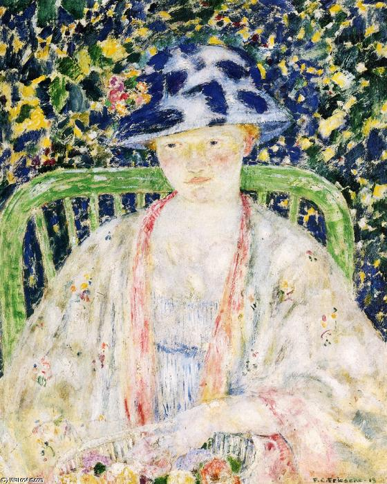 famous painting The Green Chair of Frederick Carl Frieseke