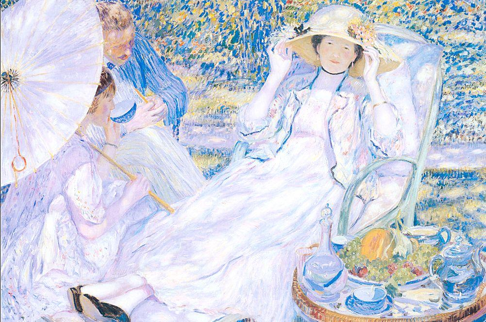 famous painting The Hour Of Tea of Frederick Carl Frieseke