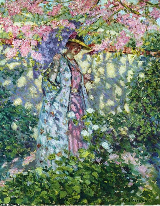 famous painting The Judas Tree of Frederick Carl Frieseke