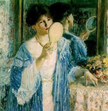 famous painting The Mirror of Frederick Carl Frieseke