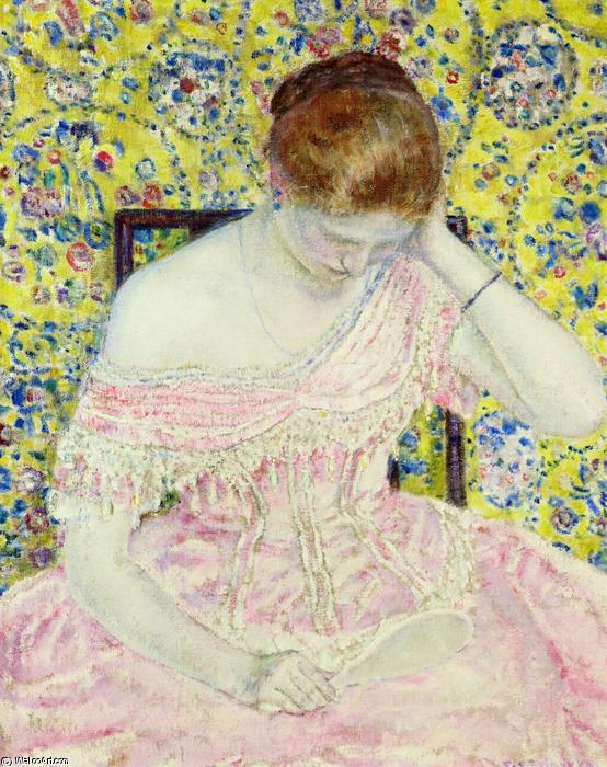 famous painting The Old Fashioned Gown of Frederick Carl Frieseke