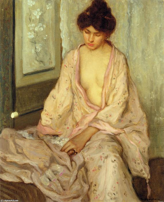 famous painting The Pink Kimono of Frederick Carl Frieseke
