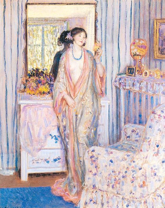 famous painting The Robe of Frederick Carl Frieseke