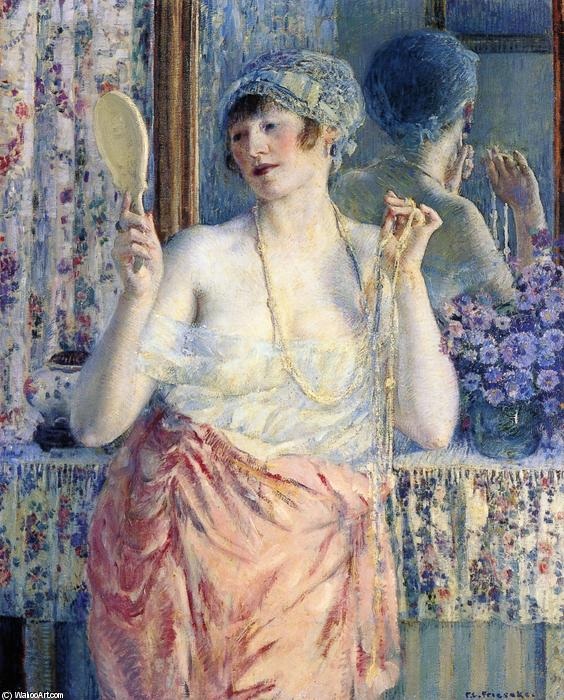 famous painting Woman Before A Mirror of Frederick Carl Frieseke
