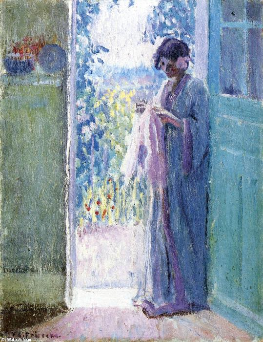 famous painting Woman In A Doorway of Frederick Carl Frieseke