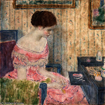 famous painting Woman with Jewels of Frederick Carl Frieseke
