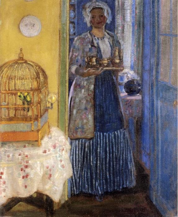 famous painting Yellow And Blue of Frederick Carl Frieseke
