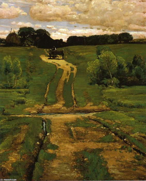 famous painting A Back Road of Frederick Childe Hassam