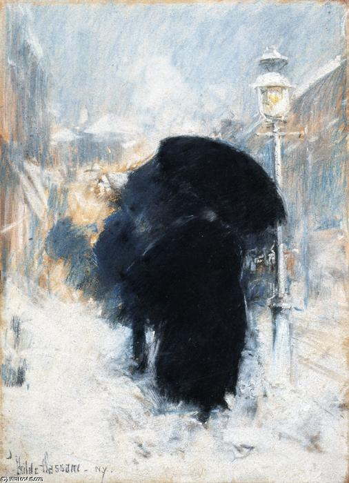famous painting A New York Blizzard of Frederick Childe Hassam