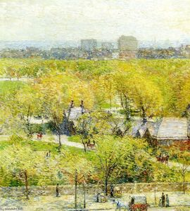 Frederick Childe Hassam - Across the Park
