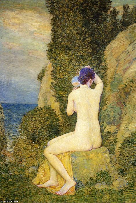 famous painting Aphrodite, Appledore of Frederick Childe Hassam
