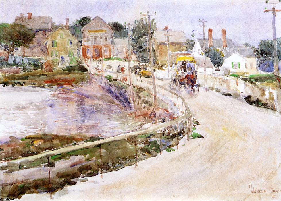 famous painting At Gloucester of Frederick Childe Hassam