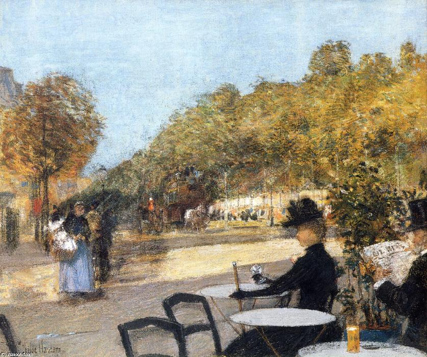 famous painting At the Cafe of Frederick Childe Hassam