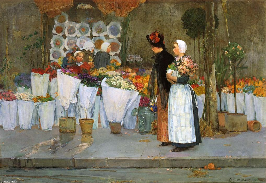 famous painting At the Florist of Frederick Childe Hassam
