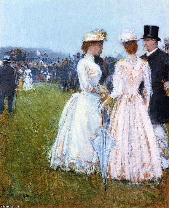 famous painting At the Grand Prix in Paris of Frederick Childe Hassam