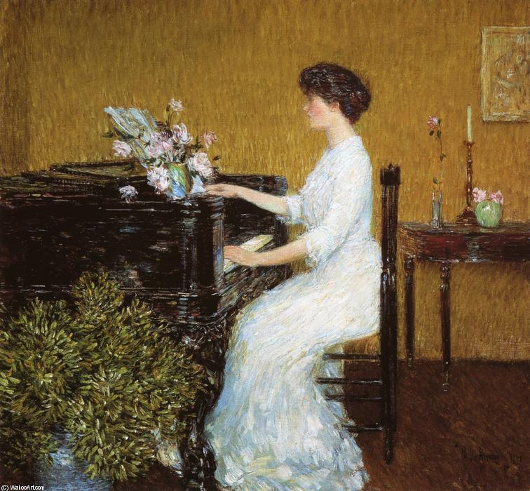 famous painting At the Piano of Frederick Childe Hassam