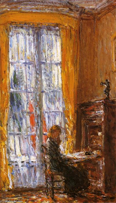 famous painting At the Writing Desk of Frederick Childe Hassam