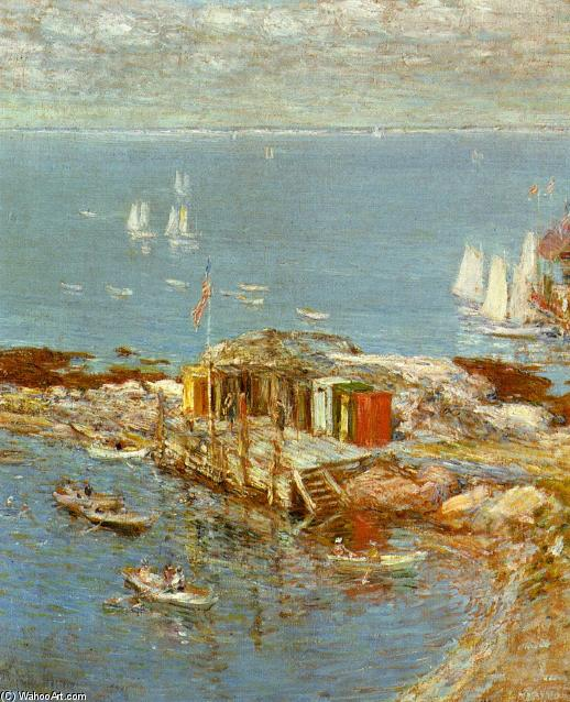 famous painting August Afternoon, Appledore of Frederick Childe Hassam