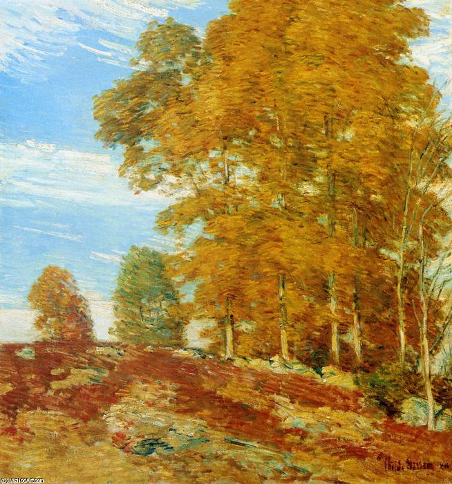 famous painting Autumn Hilltop, New England of Frederick Childe Hassam
