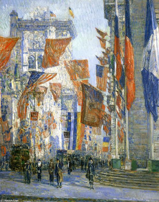 famous painting Avenue of the Allies 1 of Frederick Childe Hassam