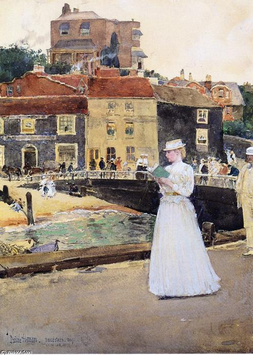 famous painting Bleakk House, Broadstairs of Frederick Childe Hassam