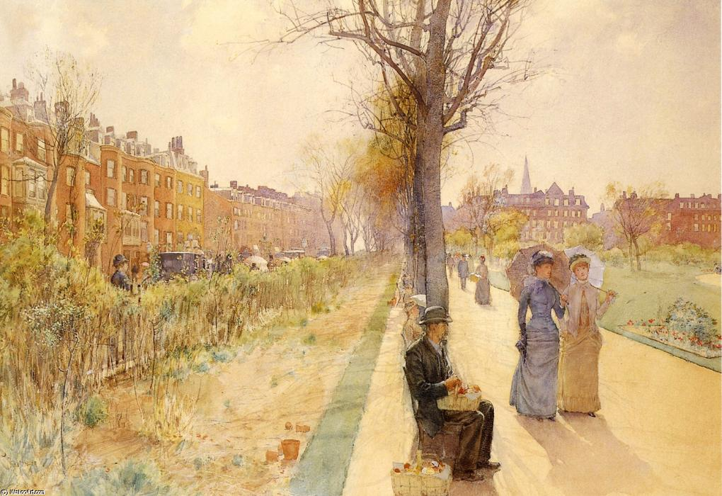famous painting Boston Common of Frederick Childe Hassam