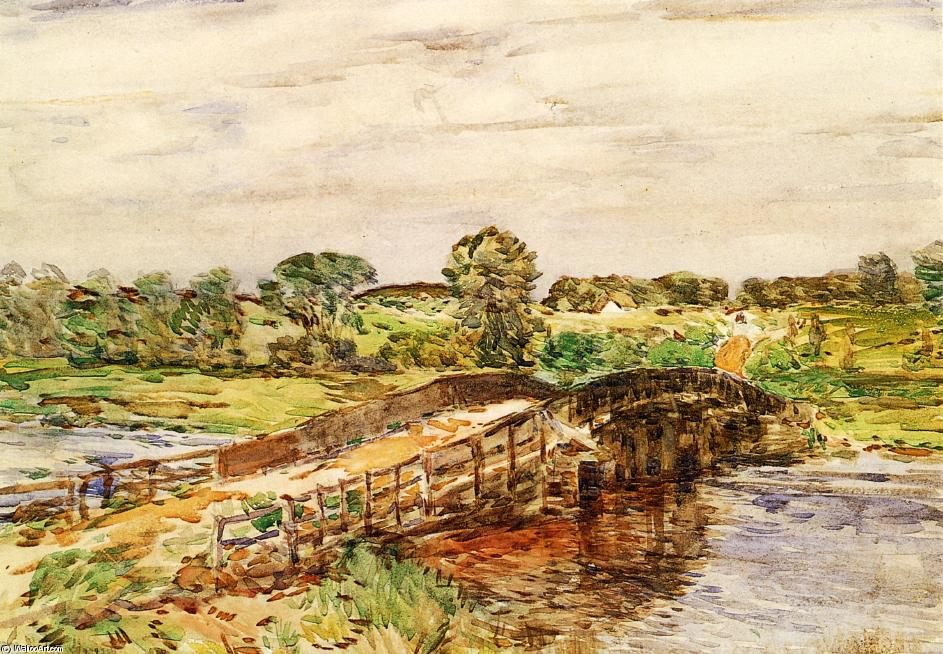 famous painting Bridge at Old Lyme 1 of Frederick Childe Hassam