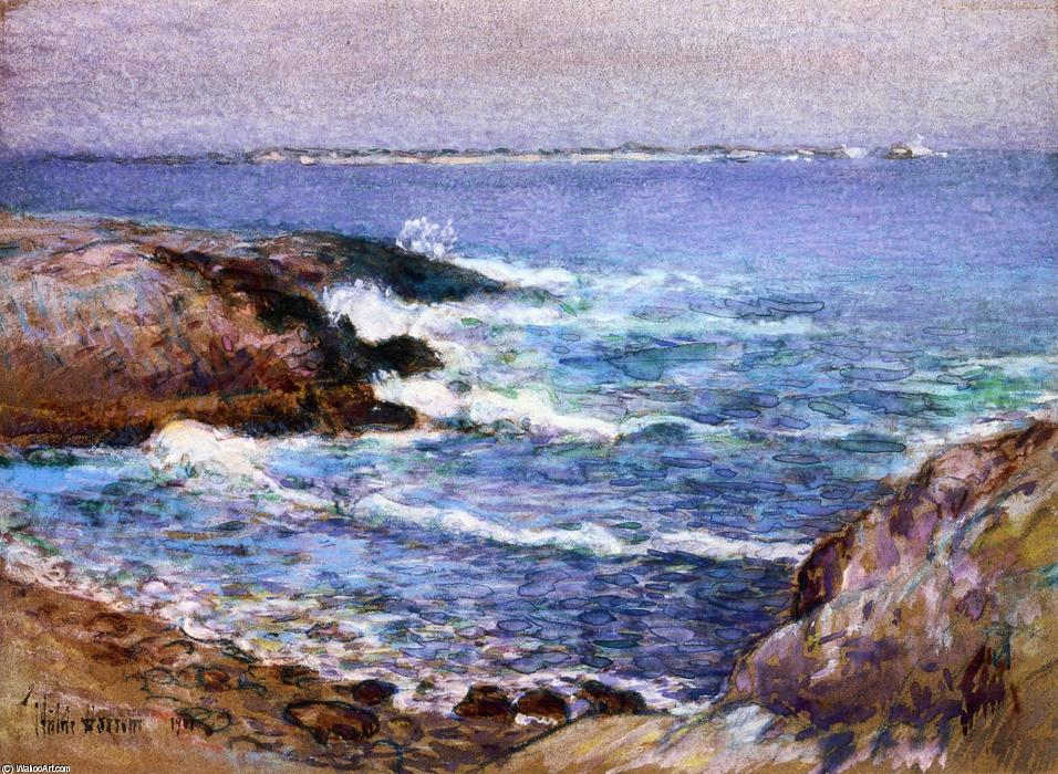famous painting Cannon Beach, Oregon of Frederick Childe Hassam