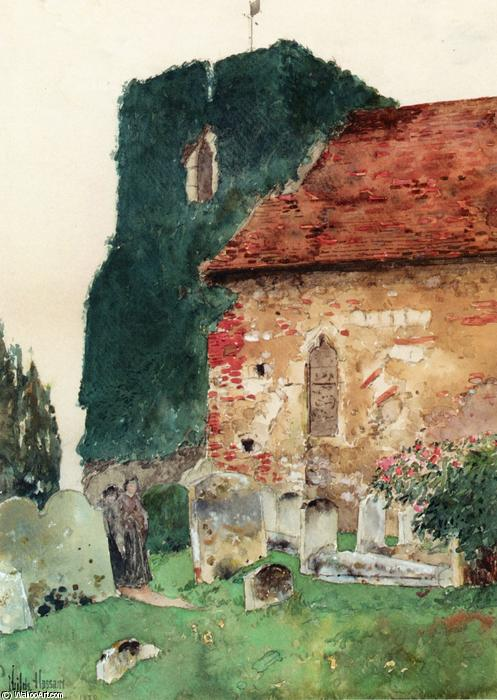 famous painting Canterbury of Frederick Childe Hassam