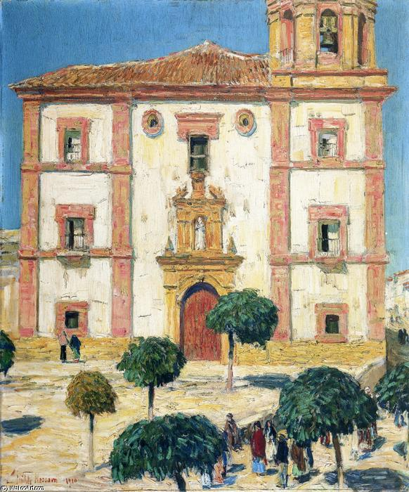 famous painting Cathedral at Ronda of Frederick Childe Hassam