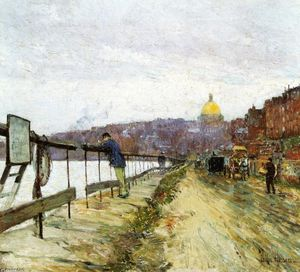 Frederick Childe Hassam - Charles River and Beacon Hill
