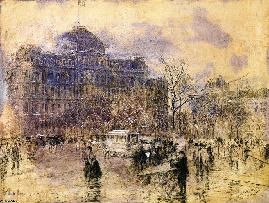 Order Museum Quality Copies Impressionism | Cityscape by Frederick Childe Hassam | TopImpressionists.com