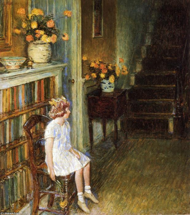 famous painting Clarissa of Frederick Childe Hassam
