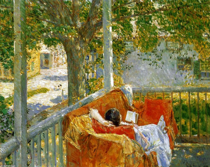 famous painting Couch on the Porch, Cos Cob of Frederick Childe Hassam