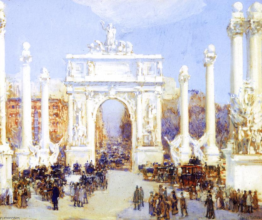 famous painting Dewey's Arch of Frederick Childe Hassam