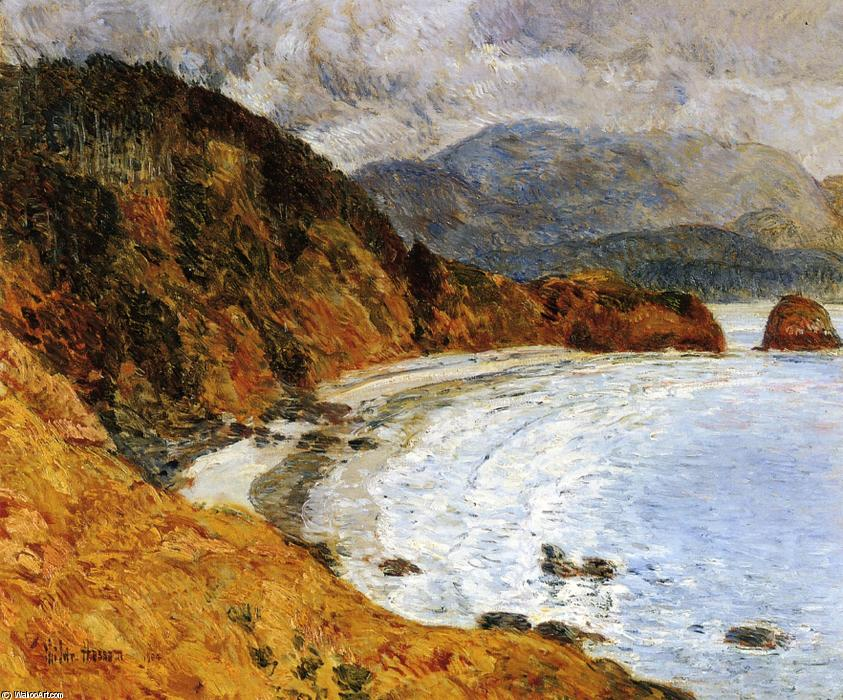 famous painting Ecola Beach, Oregon of Frederick Childe Hassam