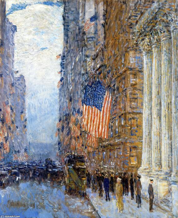 famous painting Flags on the Waldorf of Frederick Childe Hassam
