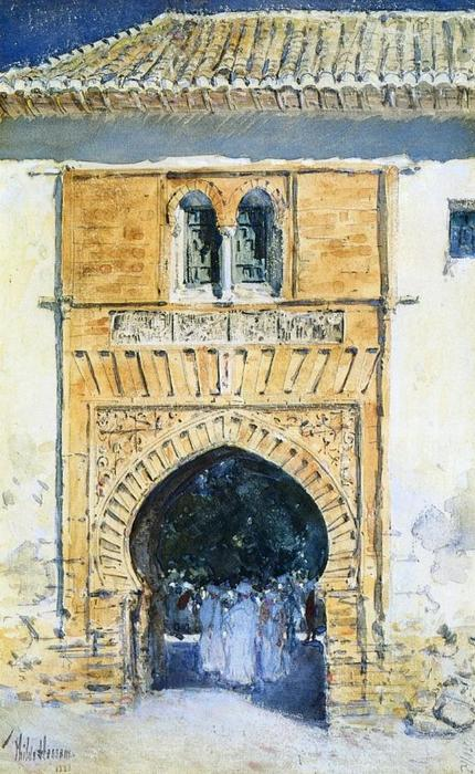 famous painting Gate of The Alhambra of Frederick Childe Hassam