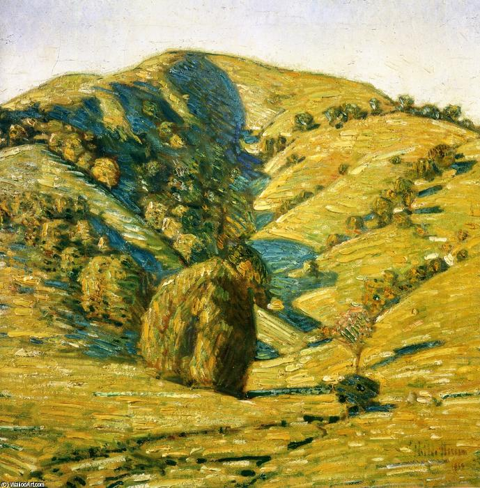 famous painting Hill of the Sun, San Anselmo, California of Frederick Childe Hassam