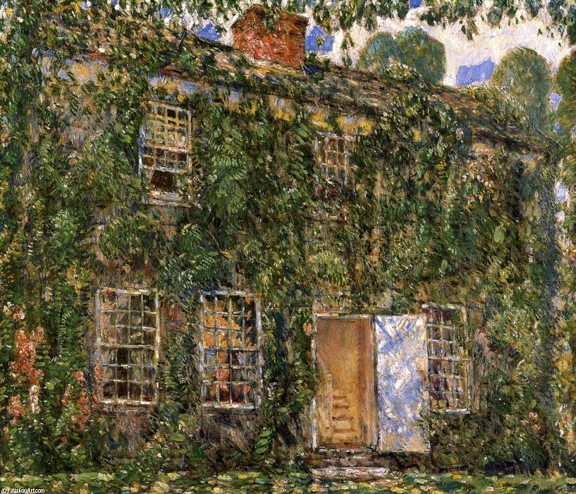 famous painting Home Sweet Home Cottage, East Hampton of Frederick Childe Hassam